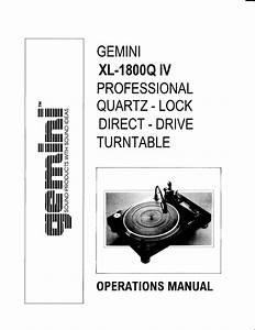 Xl-1800q Iv Manuals