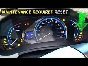 Toyota Corolla 2011 Maintenance Required Light Reset How To Remove The Maintenance Required Light On A 2007