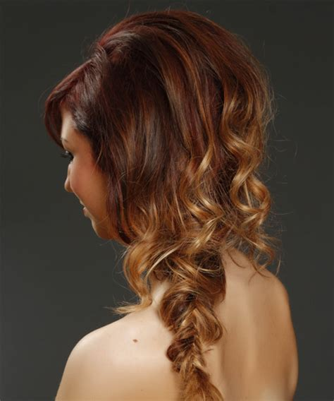 curly casual braided half up hairstyle with side
