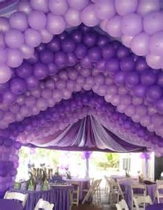 Purple Party Ceiling Decorations Balloons