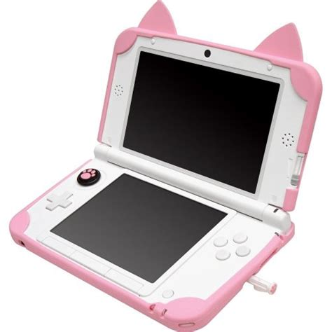 Gaming Cute White Pink Nintendo Cover 3ds Simple Case Ds