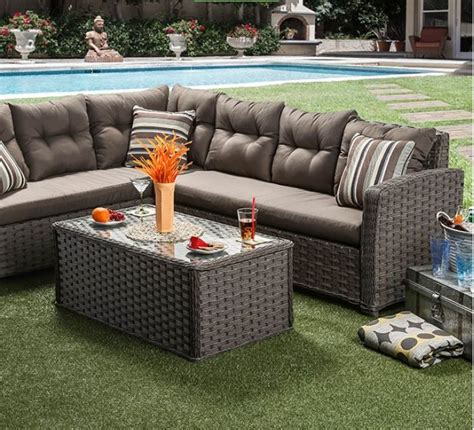 moura patio sectional las vegas furniture store modern