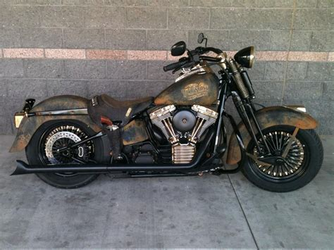 A Custom Harley-davidson Motorcycle Was Built For