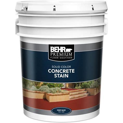behr premium  gal deep base solid color concrete stain
