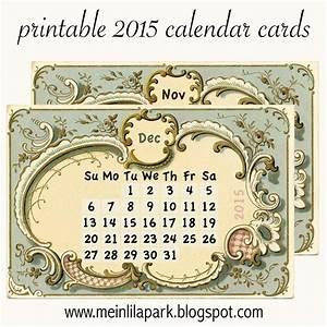 Mini Kalender 2015 : free printable 2015 calendar cards part 2 ausdruckbarer kalender 2015 freebie meinlilapark ~ Watch28wear.com Haus und Dekorationen