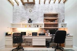 Home office designs with exposed brick walls digsdigs