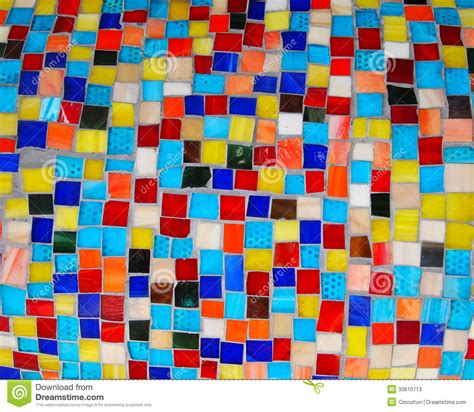 colorful squares mosaic tiles stock image