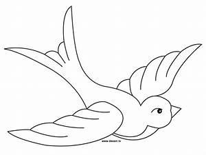 Dessin D Hirondelle Pour Tatouage : coloriage hirondelle 1 dessin gratuit imprimer ~ Melissatoandfro.com Idées de Décoration