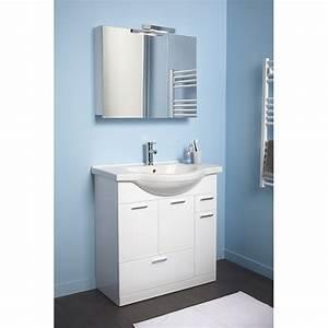 Meuble Lavabo Salle De Bain : meuble salle de bain bois leroy merlin ~ Dailycaller-alerts.com Idées de Décoration