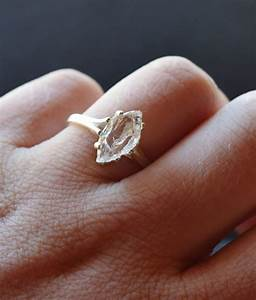rough uncut raw diamond ring sterling silver engagement by With raw diamond wedding ring
