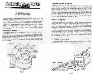 American Flyer Transformer 17b Instructions