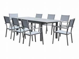 Salon De Jardin Aluminium Et Composite : salon de jardin en bois composite feroe dallas gris ~ Edinachiropracticcenter.com Idées de Décoration