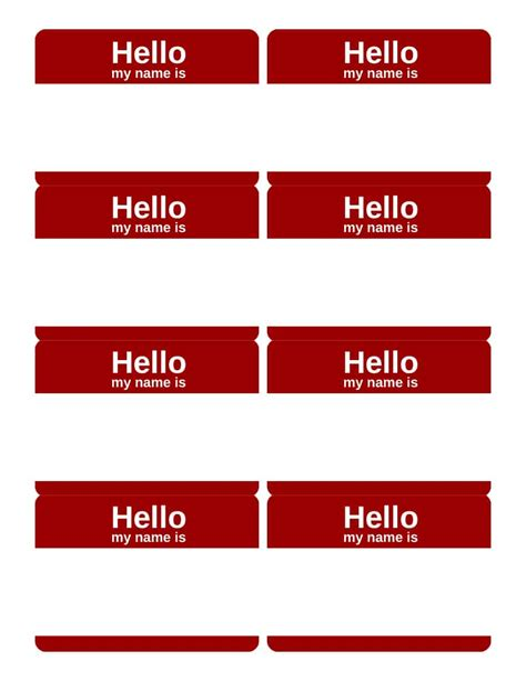 Name Badge Template Photo Name Badge Template Images Template Design Ideas