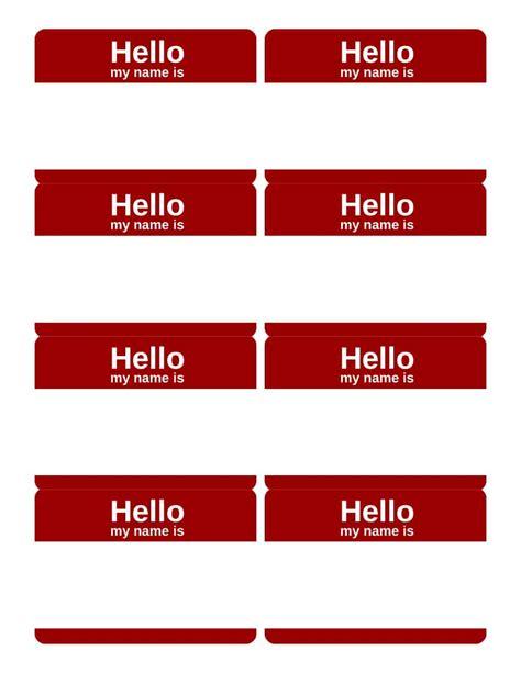 hello my name is name tag printable arts arts