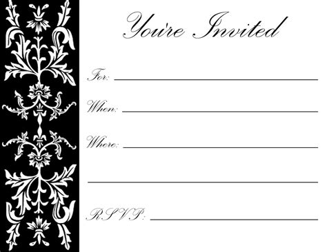 birthday invitation card template for adults pin by benton on diy household ideas free