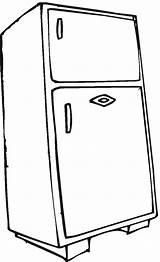 Refrigerator Coloring Worksheets Kindergarten sketch template