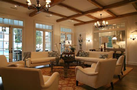 Wood Beams In Living Room  Transitional  Living Room