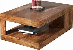 Table De Salon Bois : table basse bois massif ~ Teatrodelosmanantiales.com Idées de Décoration