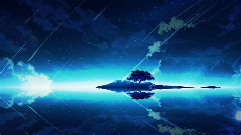 Lonely Anime Wallpaper - 1920x1080 anime landscape lonely tree