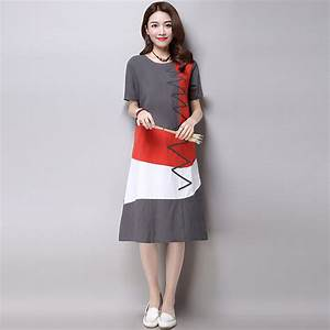 Plus Size Clothing Women Loose Casual Dress New 2016 ...