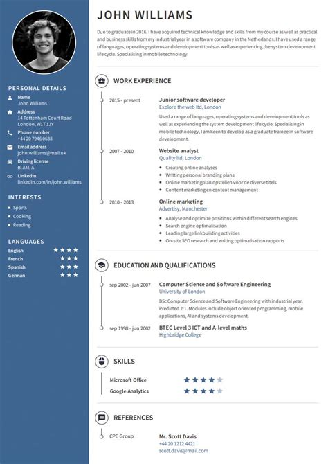 Template Cv Professionnel by Create A Professional Cv Easy With Our Cv