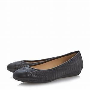 Geox Lola Swirl Stitch Detail Ballerina Shoes in Black | Lyst