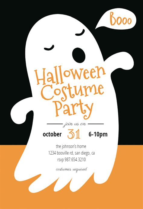 boos halloween party invitation template