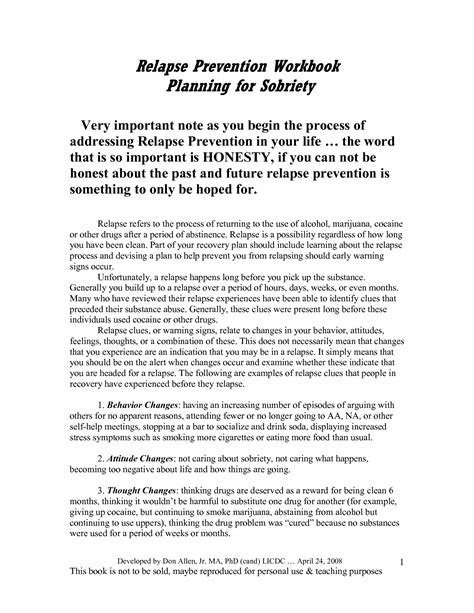 relapse prevention plan template 18 best images of addiction relapse prevention plan worksheet addiction recovery