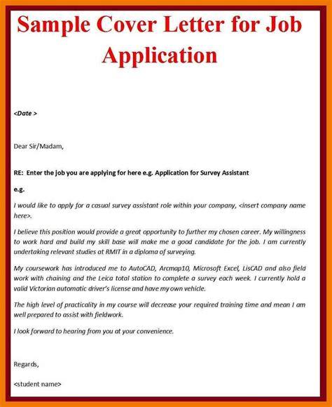 application letter for driver cover letter sles