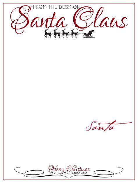 desk  letter head  santa claus letter