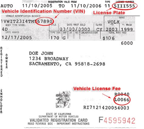 florida proof of vin form sle registration card