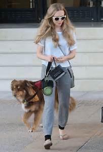 Amanda Seyfried Walking her dog in Beverly Hills