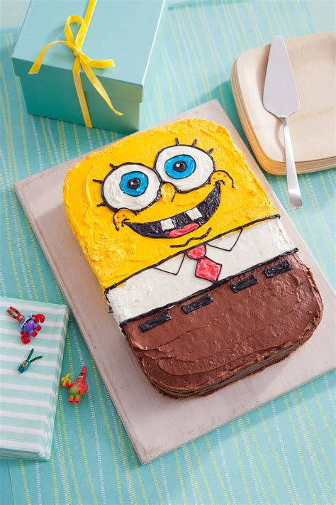 spongebob birthday cake recipe stuff  buy spongebob