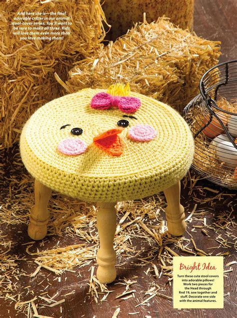 farm animal stools crochet cover crochet kingdom