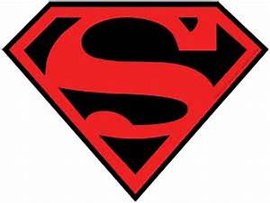 Superman Red & Black Logo Sticker