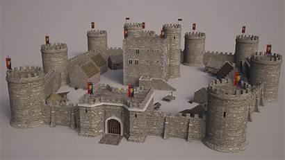 Castle Medieval Fantasy 3ds Modell Stl 3dexport