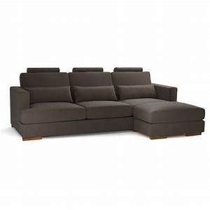 canape d39angle 5 places fixe personnalisable orlando With tapis de sol avec canapé d angle tissu en u