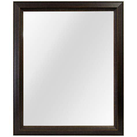 framed fog  wall mirror  antique bronze