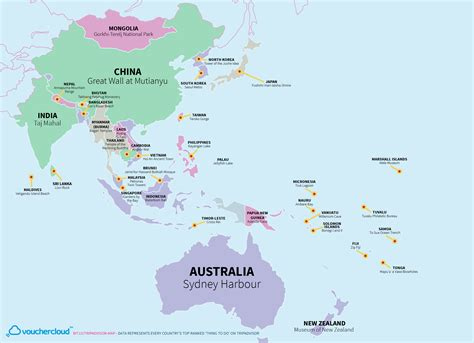 World Map Of Every Countries Most Popular Tourist