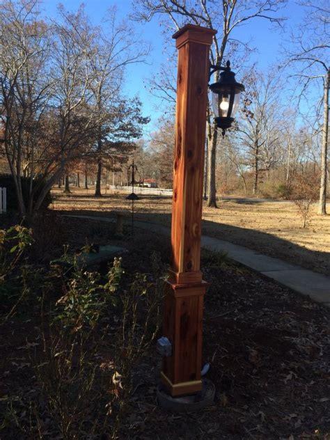 wood light pole cost eastern red cedar light post by jay lumberjocks com