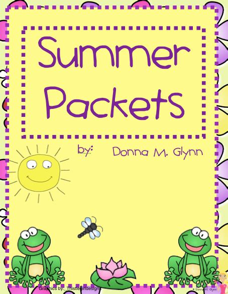 Welcome To Kinderglynn Summer Packets