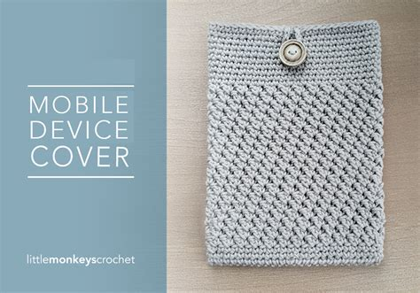 free mobile cover mobile device cover free pattern little monkeys crochet