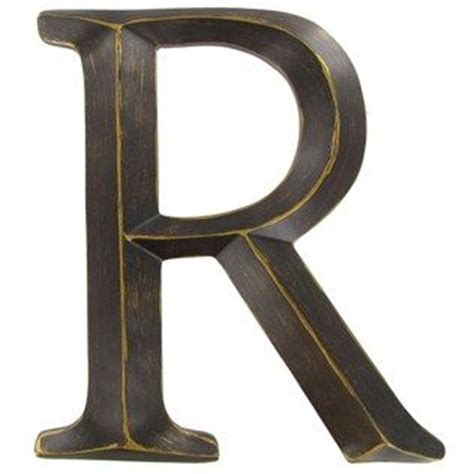 bronze polystone letter   perfect  personalizing  space    spell