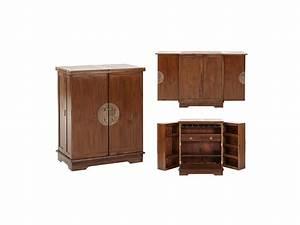 Meuble Bar Salon : meuble de bar talang ii 2 portes teck massif ~ Teatrodelosmanantiales.com Idées de Décoration