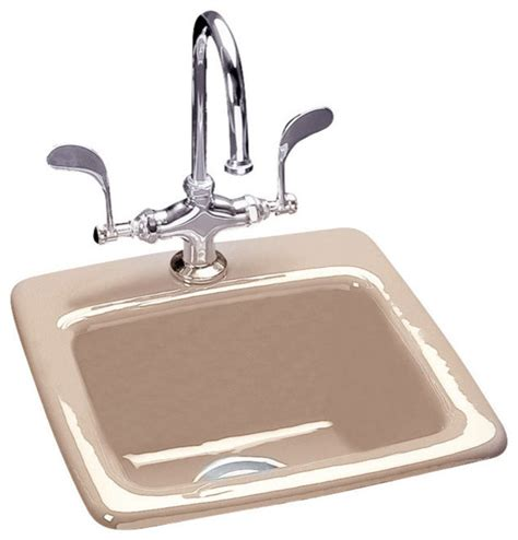 Ceco Stainless Steel Sinks by Ceco Bar Single Self Bar Sinks Houzz