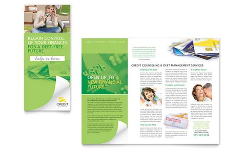 Counseling Brochure Templates Free by Consumer Credit Counseling Tri Fold Brochure Template Design
