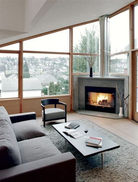 40451 modern living room with corner fireplace 22 ultra modern corner fireplace design ideas