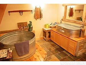 bathroom stock tank tub and sink barn house With barn house sink