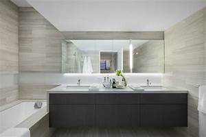 salle de bain grise epuree With salle de bain mosaique grise