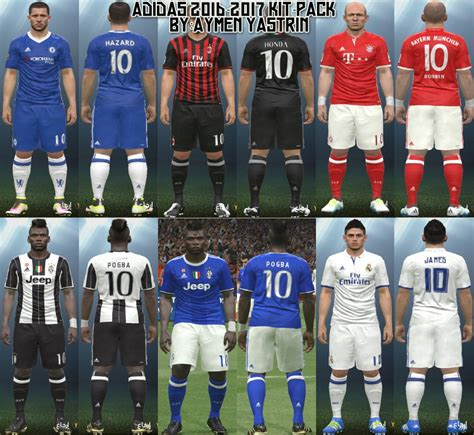 PES 2016 Adidas 16-17 Kit-Pack by YastRin - PES Patch